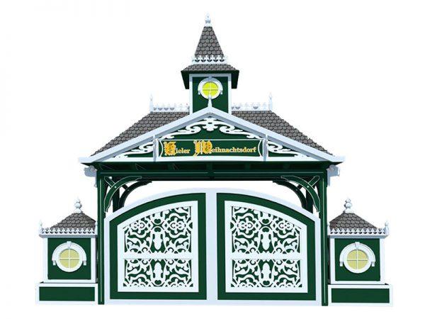 Modell des neuen Eingangsportals