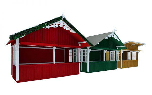 Modellentwurf der pitoresken Markthäuser